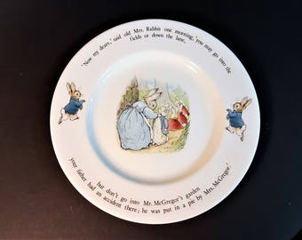 Beatrix Potter Peter Rabbit Plate