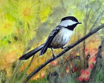Chickadee Print by Stan White