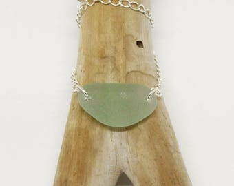 Seafood seaglass necklace