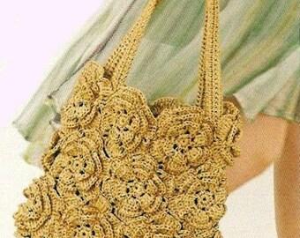 Ladies summer handbag made of handmade crochet  / custom