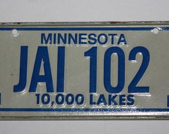 1978 Minnesota 10,000 Lakes Wheaties Post Cereal Premium Bike Mini Metal License Plate