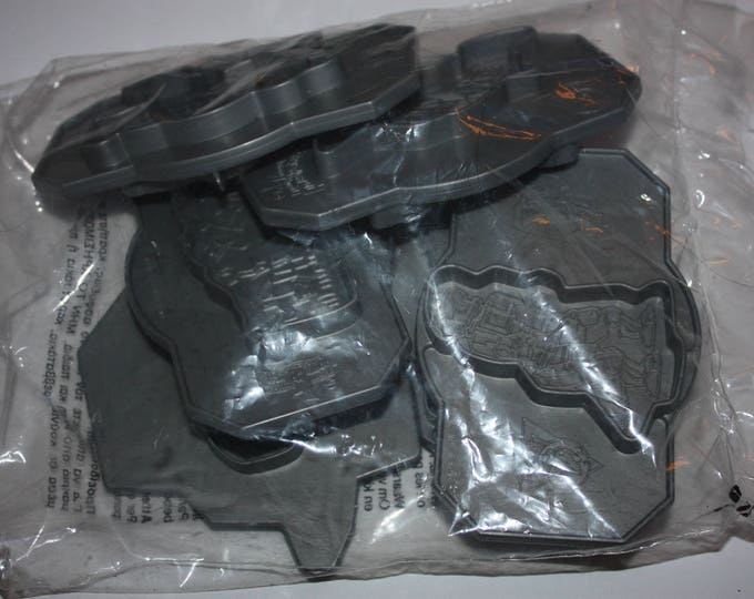 Vintage Play Doh Mighty Morphin Power Rangers Lot of 6 Gray Plastic Molds 1994 SEALED