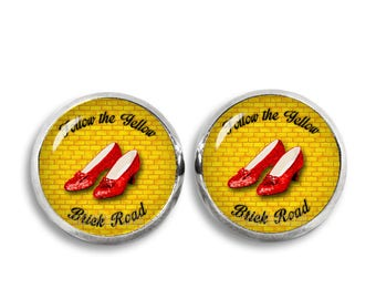 Red Slippers Stud Earrings Wizard of Oz 12mm Earrings Fandom Jewelry Kawaii Geeky Fangirl Fanboy