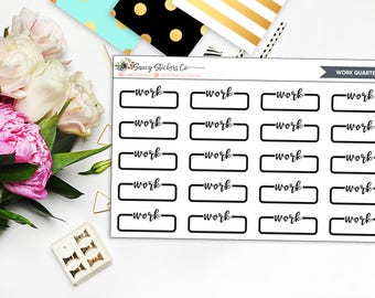 Neutral Work Planner Stickers | for use with Erin Condren Lifeplanner™, Filofax, Personal, A5, Happy Planner