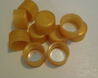24/410 Gold ribbed tops with liners - 12 each