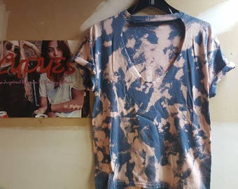 FlyDyes Acid Wash Cut Out T-Shirts
