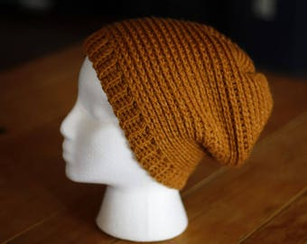Faux Knit Adult Slouchy Hat