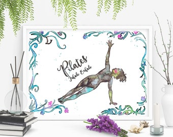 """Download and print """"Inhale exhale"""" Pilates Poster. For your Pilates Studio. SIZE 11.6x16.53 inches High resolution 300dpi Jpeg. Pilates gift"""