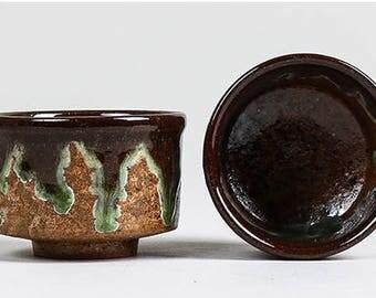 Glazed Ceramic Tea Light Holder (set of 2)