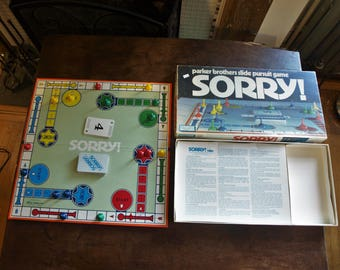 Sorry Board Game by Parker Brothers – Vintage 1972 – Complete- No. 0390