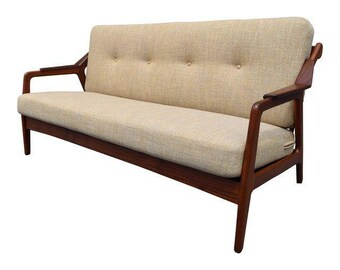 Vintage Danish Modern Teak Sofa by H. Brockmann-Petersen