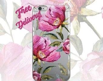 FREE SHIPPING Floral Phone Case iPhone 7/7+/6/6S/6+/6S+65/SE, Galaxy S8/8+/7/7Edge/6/6Edge/5/Note5/J7Prime, Huawei P8/8PLite/P9/P9Lite, LgG5