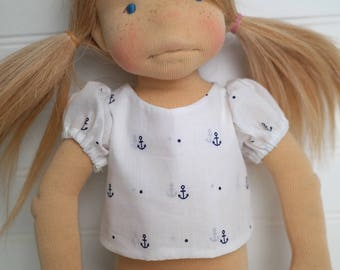 Nautical DOLL SHIRT with sleeves