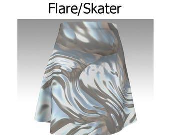 Abstract Skirt, Abstract Flare Skirt, Abstract Skater Skirt, Pearl Skirt, Pearl Flare Skirt, Pearl Skater Skirt, Gray Skirt, Grey Skirt