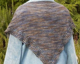 blue grey brown wool shawl scarf