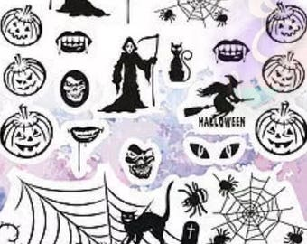 1 decal sheets halloween grim reaper stickers water transfer decals for resin crafts