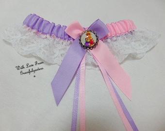 Legend of zelda princess lace bridal wedding Garter. Satin/Lace
