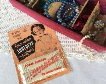 Vintage Bra Shoulder Cushions, Vintage Lingerie, Pin Up Advertising, Vintage Packaging, 1940's-1950's