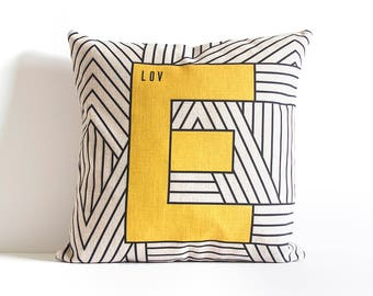 LOVE  Pillow Cover, Decorative Pillow Cover, Throw Pillow, Pillow Cushion, Sofa Pillow, Cushion Cover, Pillow Covers