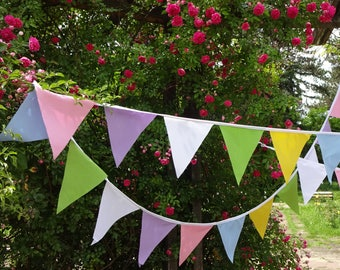 Fabric Bunting,Wedding bunting,Outdoor bunting,8.6 m/28 ft extra long with 44 flags,Wedding Shower,Party Decoration, Last one in this fabric