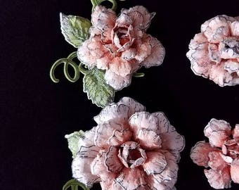 Handmade Paper Flowers-Peach Rose