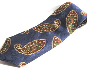 Paisley PETERBOROUGH ROW Men's 100% Silk Tie, Bloomingdales, Made in Italy