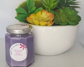 Lavender soy candle 6 oz, lavender candles, natural candles, hand poured candles, artisan candles