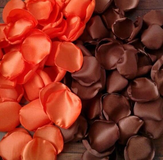 orange rose petals brown rose petals orange wedding chocolate