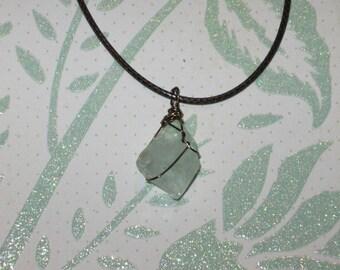 Aquamarine crystal necklace