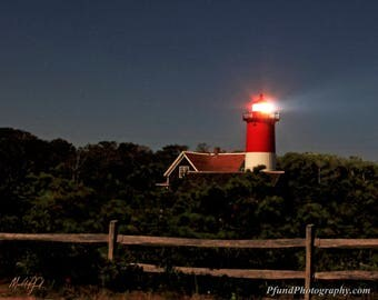 Nauset Lighthouse at Night - Cape Cod - Landscape Photography - Fine Art Print - Limited Edition