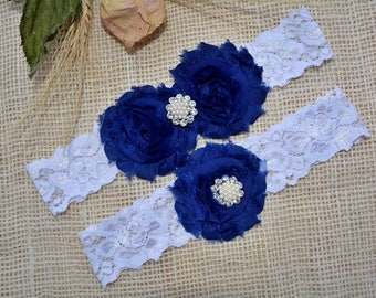Wedding Garter Blue, Garter Set, Blue Bridal Clothing, Somethig Blue, Garter For Wedding, Garter For Brides, Garter Blue, Navy Blue Garter