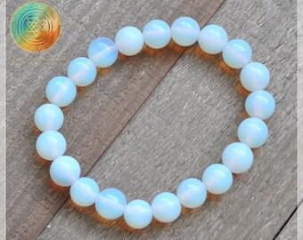 Opalite Bracelet, 8mm Opalite bead bracelet, Opalite stone, Gemstone Bracelet, Beaded Bracelet,Womens Bracelet, Gift for her, Spirituality