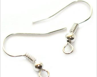 Set of 4 pairs ties stand 19mm silver plated earrings