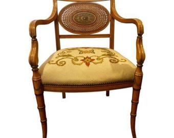 Marvelous Vintage French Provincial Style Needlepoint Chair