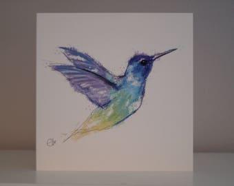 Hummingbird card // hummingbird birthday card // hummingbird greetings card // hummingbird art // hummingbird drawing // hummingbird gifts