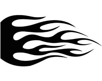Fire Decal #3 Hot Rod Flames Automotive Car Motorcycle Pin Striping Speed Power Design Element .SVG .EPS .PNG Clipart Vector Cut Cutting