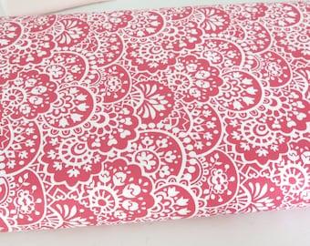 1 yard Nancy Halvorsen Bree Paisley Coral quilt shop cotton, Benartex, Art to Heart