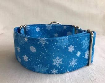Snowfall Collection Martingale Dog Collar