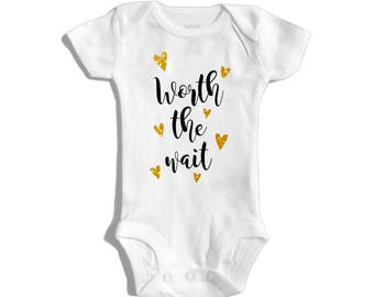 Worth the wait - IVF - Infertility - IVF baby - Made with love and science - Pregnancy announcement to family - Rainbow baby - IVF success