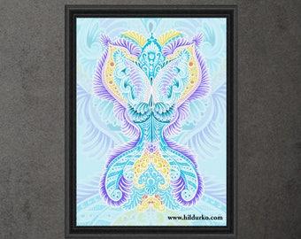 Rebirth, Digital Print, Bohemian, INSTANT DOWNLOAD, Digital Download, Gallah Wall Art Digital
