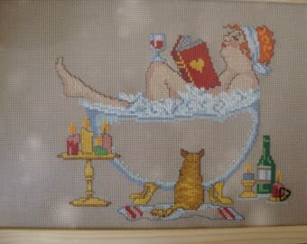 Madame embroidery in the bath, relax 21 * 29, 7 cm