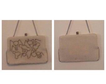 On Sale Vintage Beaded Handbag with Spider Design