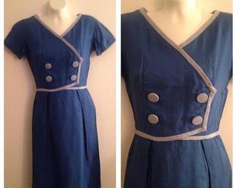Anniversary Sale Vintage Mort Schrader Linen Dress