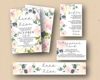 Peachy Rose Printable wedding invite | DIY Invitations