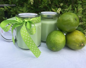 Coconut Lime Verbena Type Soy Candle / Lime Soy Candle / Lime Coconut Candle Gift / Candle Shower Gift / Brides Candle