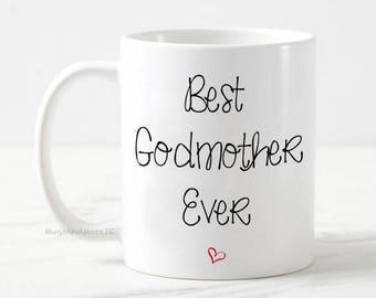 Best Godmother mug, godmother mug, godmother mug gift, pregnancy announcement mug, gift for godmother, best godmother coffee mug, godmother