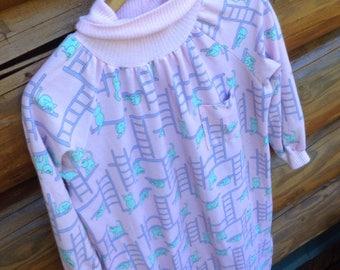 CATS & LADDERS Crazy cat lady pajamas sleep shirt dress size L