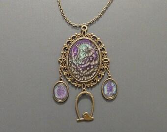 Baroque pendant necklace