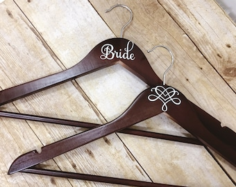 Set of 6 Wedding Hangers | Bridal Hanger Gift | Bridal Party Gift | Bridal Hanger | Custom Wedding Hanger | Bridesmaid Hanger