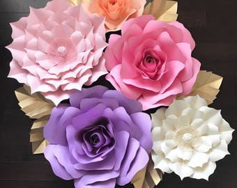 Large Paper Flower Backdrop/ Nursery Decor-Customize your Order!!!